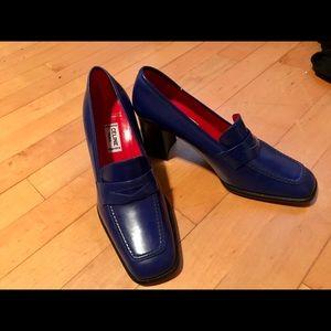 Blue Penny Loafer Celine Heels